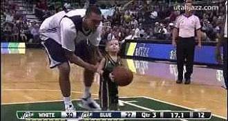 Child Joins NBA Team On The Court