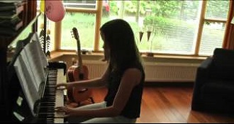 Girl Plays Downton Abbey On Piano
