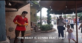 Little Girl Puts Gaston In His Place