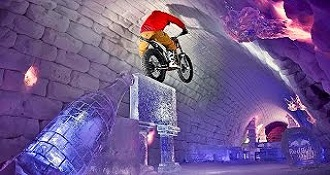Moto Trials In A Giant Igloo