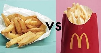 McDonalds Vs Healthy Restaurants