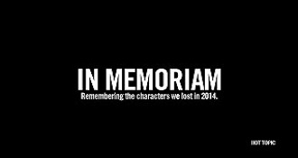 The Characters We Lost in 2014