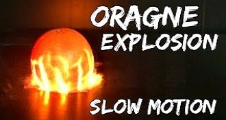 Orange Exploding In Slow Motion Is Glorious