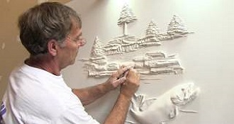 Artist Creates Stunning 3D Picture With Dry Wall