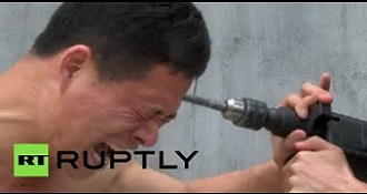 Kung-Fu Master Take An Electric Drill To The Head