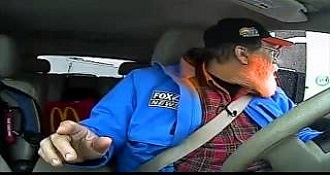 Traffic Reporter Goes On The Air While At The Drive-Thru