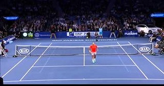 Kid Takes on Federer