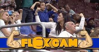 Strong Girl Shows Up Guy On Stadium Flex Cam