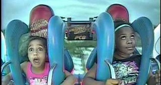 Two Girls Completely Lose It On The Slingshot Ride