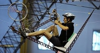 Human Powered Helicopter Straight Up Difficult