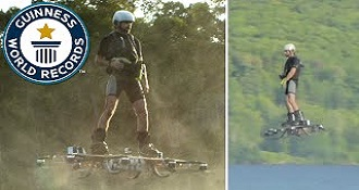 Record For Longest Flight On Real Hoverboard