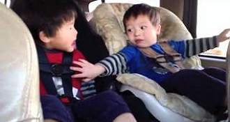 Toddlers Chatting In Car In Sign Language Is Precious
