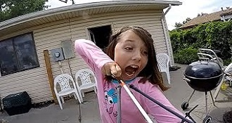 Brave Girl Pulls Her Tooth With Sling Bow