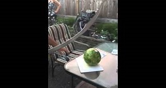 The Wrong Way To Cut A Watermelon