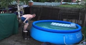 This Guy Attempt To Jump Into A Pool And Fail Miserably
