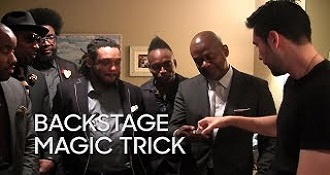 Backstage Magic Trick Dan White and The Roots
