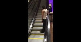 Drunk Guy Takes Longest Escalator Ride Ever
