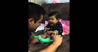 Adorable Toddler Screams Everytime Dad Tries To Cut Her Fingernails