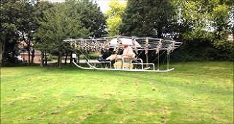 Man Builds His Own Flying Helicopter With Matrix Of Drone
