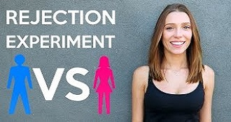 Rejection Experiment Guys VS Girls