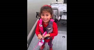 This Little Girl Catching A Massive Fish