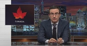 John Oliver Discusses The 2015 Canadian Election