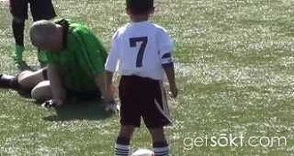 This Is A Little Kid Hitting A Soccer Ref In The Nuts