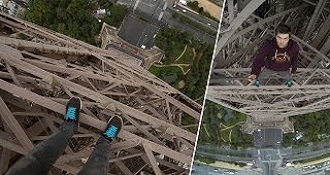 Daredevil Climbs The Eiffel Tower