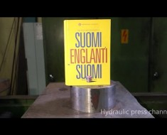Crushing A Thick Book With Hydraulic Press