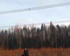 Power Lines Short Circuit Electric Bang Belarus