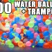 Playing With Hundreds Of Water Balloons On A Trampoline