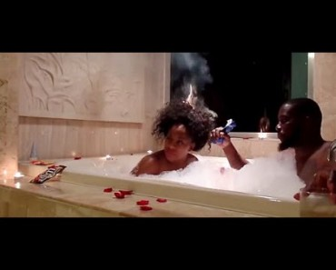 Hair Catches Fire During Romantic Bubble Bath Time