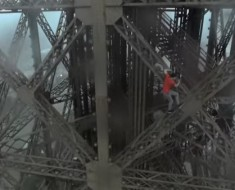 Some Crazy Guys Climb The Eiffel Tower