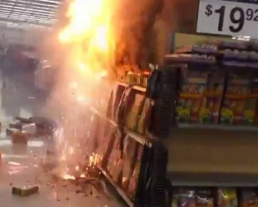 When You Accidentally Set Off Fireworks In Wal-Mart