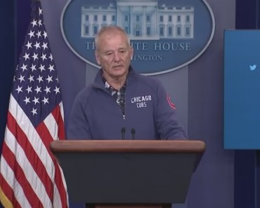 Bill Murray Crashes White House Press Briefing Room To Talk Baseball