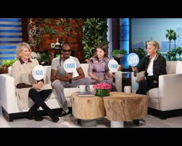 Never Have I Ever With Martha Stewart, Snoop Dogg And Anna Kendrick