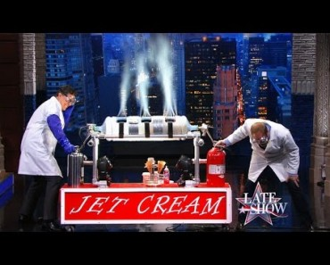 Alton Brown Makes Ice Cream In 10 Seconds