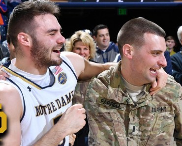 Basketball Player Gets Surprised By Homecoming Military Brother