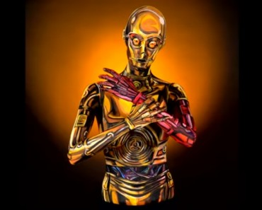 Epic Star Wars C-3PO Body Paint Time Lapse