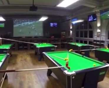 This Epic Chain Reaction Trick Shot Runs Through A Whole Bar