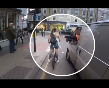 Female Cyclist Gets Revenge From Disrespectful Catcalling Van Drivers