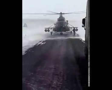 Helicopter Pilot Asks Trucker For Directions