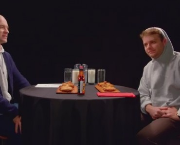 Mac DeMarco Tries to Stay Chill While Eating Spicy Wings