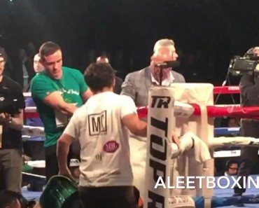 Conor McGregor Walks Out Irish Boxer For Pro Debut